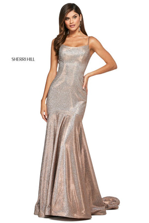 Sherri Hill 53370 prom dress images.  Sherri Hill 53370 is available in these colors: Aqua Silver, Nude Silver, Fuchsia Silver, Mocha Silver, Turq Silver, Royal Silver, Red Silver.