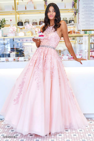 Sherri Hill 53371 prom dress images.  Sherri Hill 53371 is available in these colors: Lilac, Bright Pink, Red, Light Blue, Blush, Yellow, Ivory Nude, Navy, Coral.