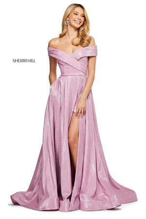 Sherri Hill 53499 prom dress images.  Sherri Hill 53499 is available in these colors: Aqua Silver, Pink Silver, Turq Silver, Nude Silver, Mocha Silver, Royal Silver.