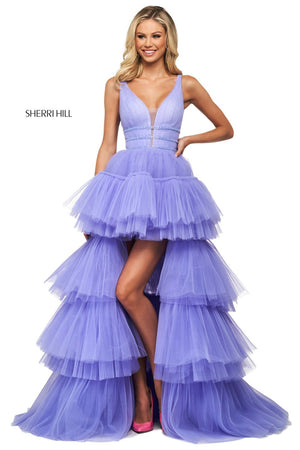 Sherri Hill 53733 prom dress images.  Sherri Hill 53733 is available in these colors: Lilac.