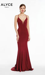 Alyce Paris 1375 prom dress images.  Alyce Paris 1375 is available in these colors: Burgundy,  Pine.
