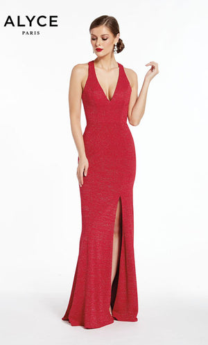 Alyce Paris 1376 prom dress images.  Alyce Paris 1376 is available in these colors: Cerise,  Midnight.