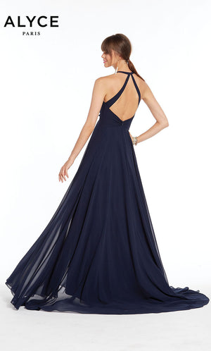 Alyce Paris 1381 prom dress images.  Alyce Paris 1381 is available in these colors: Navy,  Lilac.