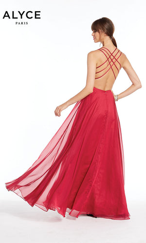 Alyce Paris 1382 prom dress images.  Alyce Paris 1382 is available in these colors: Deep Water,  Raspberry.