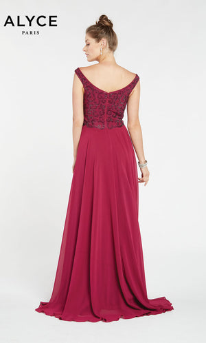 Alyce Paris 1385 prom dress images.  Alyce Paris 1385 is available in these colors: Navy,  Raspberry,  Pine.