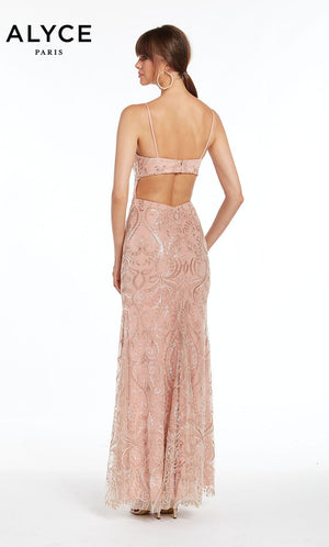 Alyce Paris 1397 prom dress images.  Alyce Paris 1397 is available in these colors: Ivory Nude,  Deep Pink.
