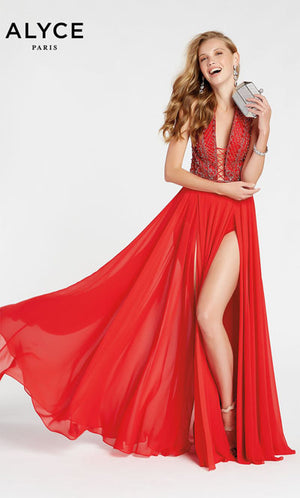 Alyce Paris 1404 prom dress images.  Alyce Paris 1404 is available in these colors: Lipstick.