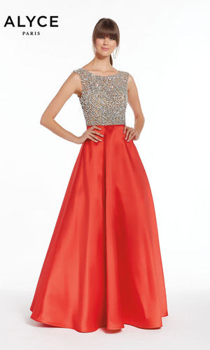 Alyce Paris 1405 prom dress images.  Alyce Paris 1405 is available in these colors: Black,  Red.