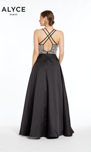 Alyce Paris 1406 prom dress images.  Alyce Paris 1406 is available in these colors: Black.