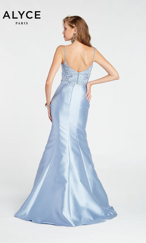 Alyce Paris 1408 prom dress images.  Alyce Paris 1408 is available in these colors: Burgundy,  French Blue,  Midnight,  Emerald,  Rose Quartz,  Black.