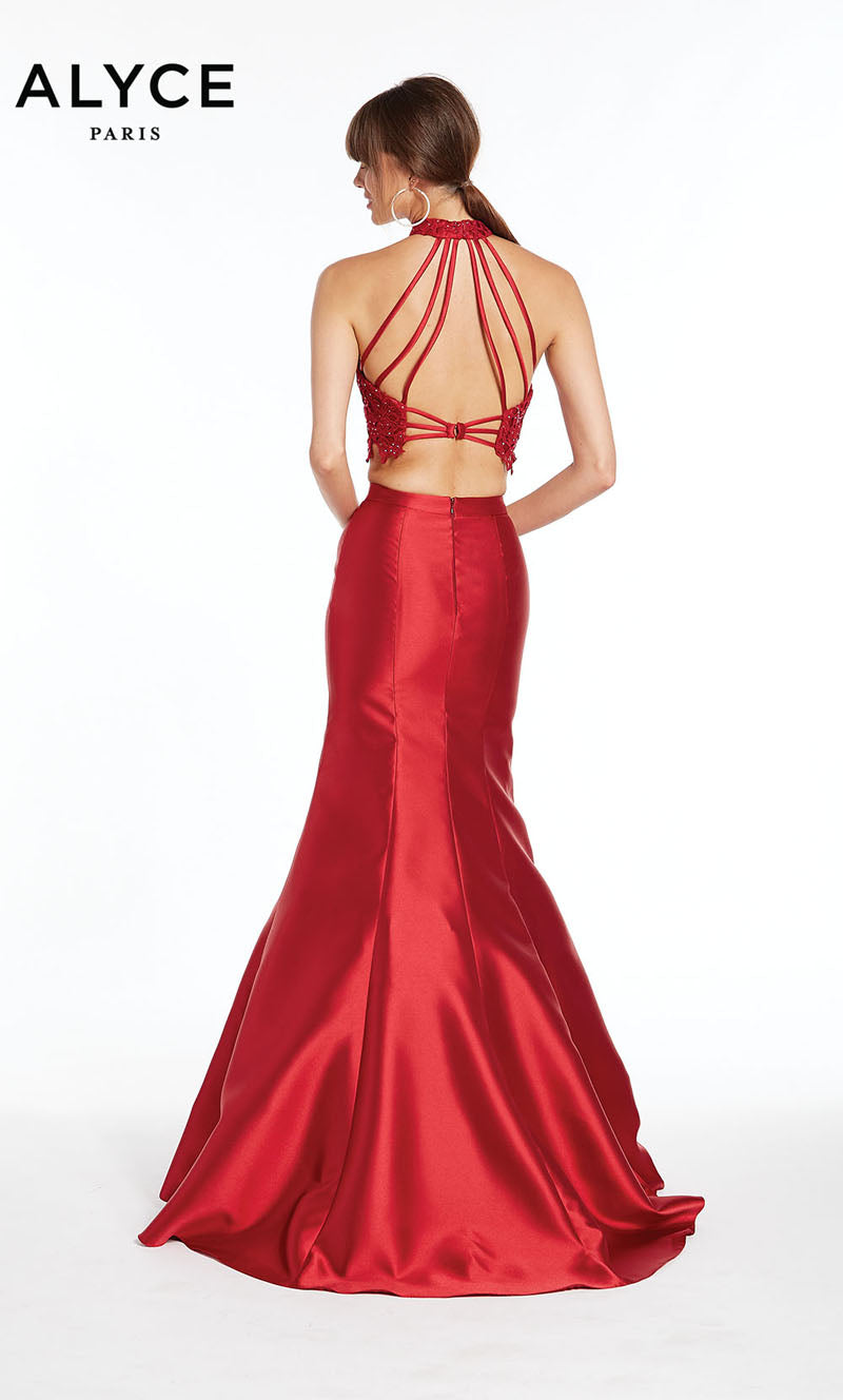 Alyce Paris 1409 prom dress images.  Alyce Paris 1409 is available in these colors: Burgundy,  Midnight.