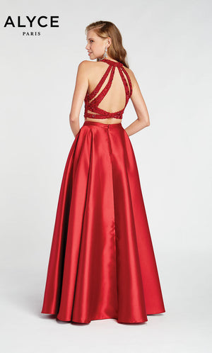 Alyce Paris 1410 prom dress images.  Alyce Paris 1410 is available in these colors: Burgundy,  Rosegold.
