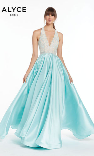Alyce Paris 1412 prom dress images.  Alyce Paris 1412 is available in these colors: Sea Glass.