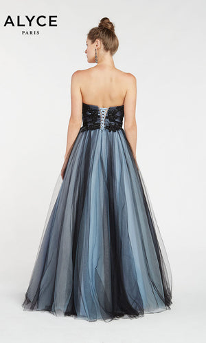 Alyce Paris 1415 prom dress images.  Alyce Paris 1415 is available in these colors: Black Blue.