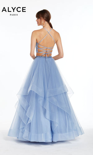 Alyce Paris 1416 prom dress images.  Alyce Paris 1416 is available in these colors: French Blue,  Black Silver,  Claret.