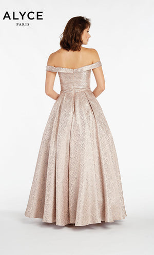 Alyce Paris 1435 prom dress images.  Alyce Paris 1435 is available in these colors: Blush,  Champagne.