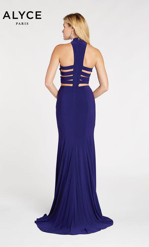 Alyce Paris 60283 prom dress images.  Alyce Paris 60283 is available in these colors: Charcoal,  Wine.