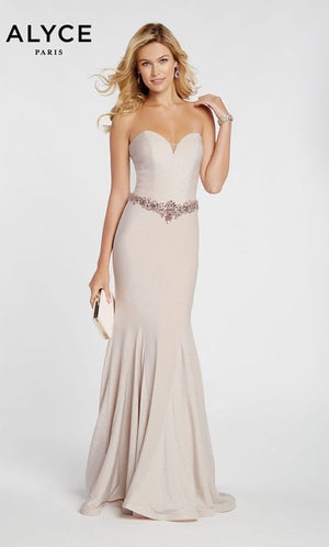 Alyce Paris 60290 prom dress images.  Alyce Paris 60290 is available in these colors: French Pink.