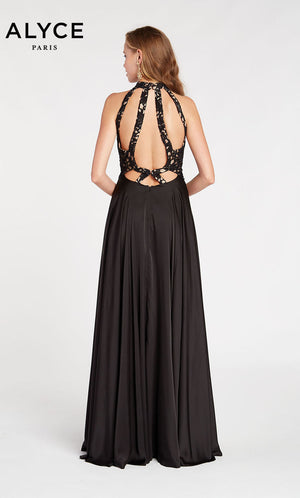 Alyce Paris 60298 prom dress images.  Alyce Paris 60298 is available in these colors: Black Sand.