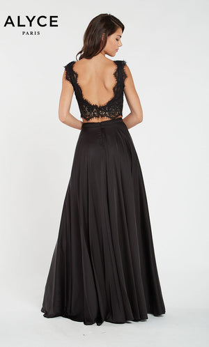 Alyce Paris 60299 prom dress images.  Alyce Paris 60299 is available in these colors: Black Sand.