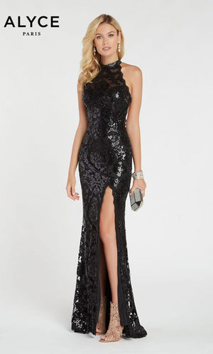 Alyce Paris 60300 prom dress images.  Alyce Paris 60300 is available in these colors: Black.