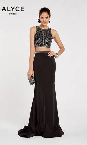 Alyce Paris 60306 prom dress images.  Alyce Paris 60306 is available in these colors: Black.