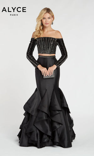 Alyce Paris 60309 prom dress images.  Alyce Paris 60309 is available in these colors: Black.