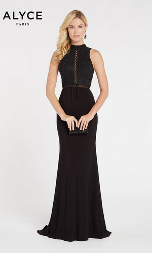 Alyce Paris 60320 prom dress images.  Alyce Paris 60320 is available in these colors: Black.