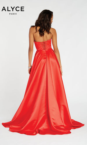 Alyce Paris 60326 prom dress images.  Alyce Paris 60326 is available in these colors: Poppy,  Rosegold.