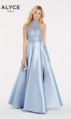 Alyce Paris 60329 prom dress images.  Alyce Paris 60329 is available in these colors: Claret,  French Blue,  Blush,  Cobalight,  Diamond White.