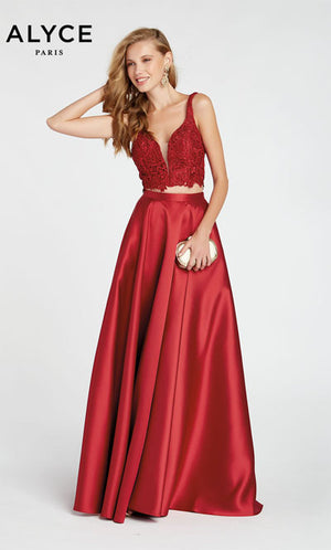 Alyce Paris 60330 prom dress images.  Alyce Paris 60330 is available in these colors: Cobalight,  Claret,  Ice Lilac.