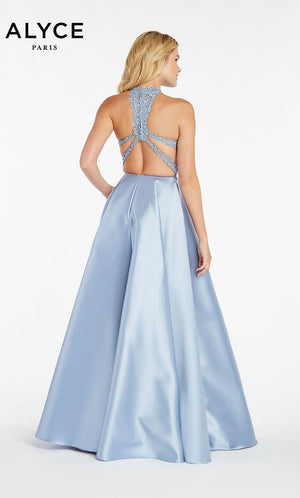 Alyce Paris 60331 prom dress images.  Alyce Paris 60331 is available in these colors: French Blue,  Rose Taupe,  Diamond White,  Raspberry,  Pine.