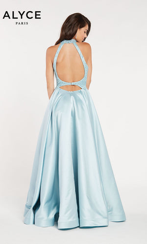 Alyce Paris 60334 prom dress images.  Alyce Paris 60334 is available in these colors: Ice Blue.