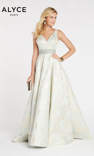 Alyce Paris 60343 prom dress images.  Alyce Paris 60343 is available in these colors: Marie Antoinette,  Hush,  Blush.