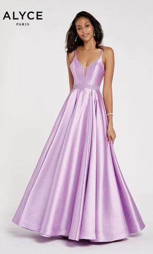 Alyce Paris 60345 prom dress images.  Alyce Paris 60345 is available in these colors: French Blue,  French Pink,  Orchid,  Wine,  Emerald.
