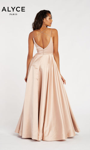 Alyce Paris 60347 prom dress images.  Alyce Paris 60347 is available in these colors: Rosegold,  Emerald.