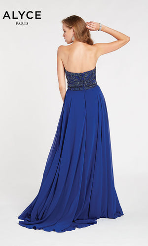 Alyce Paris 60350 prom dress images.  Alyce Paris 60350 is available in these colors: Cobalight,  Black Plum.