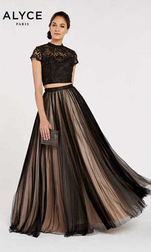 Alyce Paris 60356 prom dress images.  Alyce Paris 60356 is available in these colors: Black Sand.