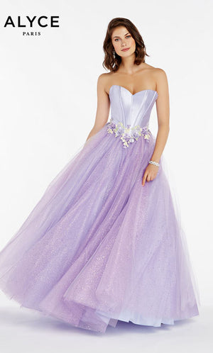 Alyce Paris 60363 prom dress images.  Alyce Paris 60363 is available in these colors: Pink,  Orchid,  Black.