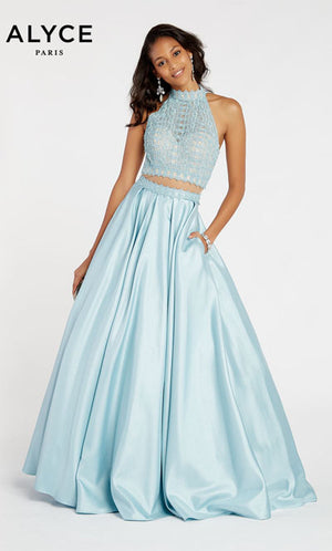 Alyce Paris 60367 prom dress images.  Alyce Paris 60367 is available in these colors: Raspberry,  Royal,  Hush.