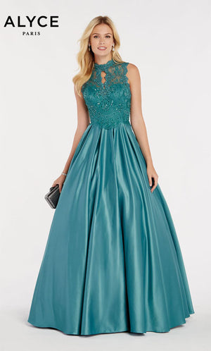 Alyce Paris 60368 prom dress images.  Alyce Paris 60368 is available in these colors: Rose Taupe,  Sage Green,  Burgundy,  Diamond White,  Royal.