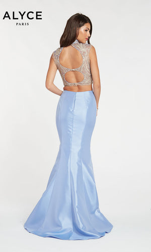 Alyce Paris 60370 prom dress images.  Alyce Paris 60370 is available in these colors: Black,  Periwinkle.