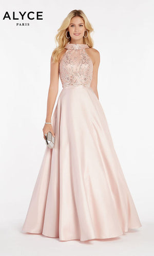 Alyce Paris 60371 prom dress images.  Alyce Paris 60371 is available in these colors: French Pink,  Hush,  Red,  Midnight.