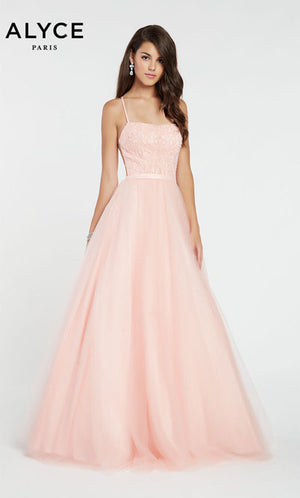 Alyce Paris 60385 prom dress images.  Alyce Paris 60385 is available in these colors: Rosewater.