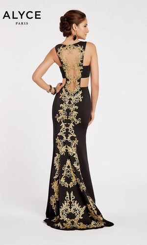 Alyce Paris 60397 prom dress images.  Alyce Paris 60397 is available in these colors: Black.