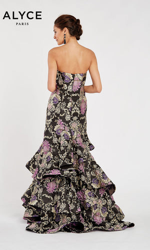 Alyce Paris 60400 prom dress images.  Alyce Paris 60400 is available in these colors: Black Purple.