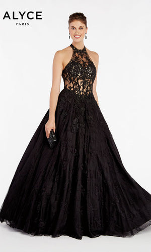 Alyce Paris 60407 prom dress images.  Alyce Paris 60407 is available in these colors: Black Sand.
