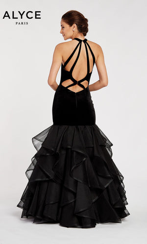 Alyce Paris 60411 prom dress images.  Alyce Paris 60411 is available in these colors: Black.