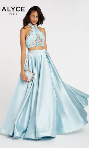 Alyce Paris 60422 prom dress images.  Alyce Paris 60422 is available in these colors: Ice Blue.