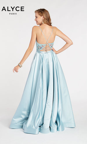 Alyce Paris 60423 prom dress images.  Alyce Paris 60423 is available in these colors: Ice Blue.